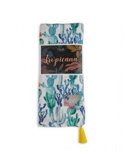 Otulacz bambusowy Tropicana Cacti Yellow 120x120