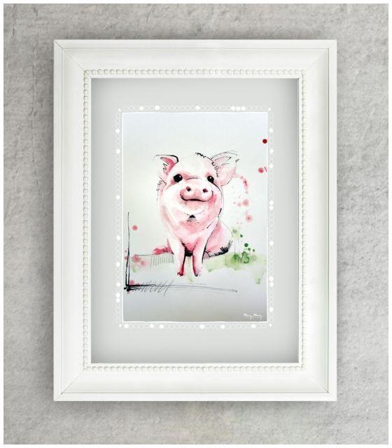 Plakat Zwierzęta wiejskie - Świnka