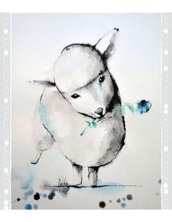 Plakat Zwierzęta wiejskie - Owca