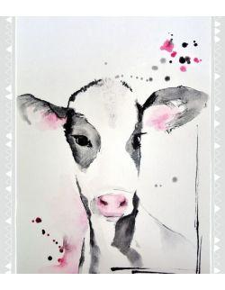 Plakat Zwierzęta wiejskie - Krowa
