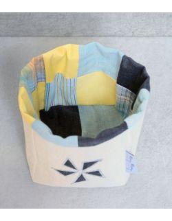 Pojemnik tekstylny błękitny 10 cm