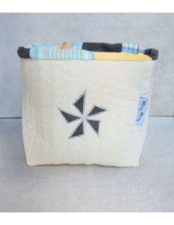 Pojemnik tekstylny błękitny 15 cm