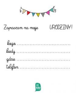 """Zaproszenia Urodzinowe """"ZOO"""""""