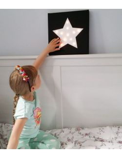 ŚWIECĄCA GWIAZDA dowolny kolor lampka dla dziecka dekoracja