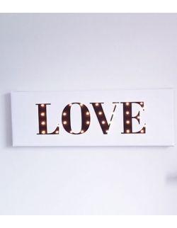 ŚWIECĄCY NAPIS LOVE dekoracja lampka prezent
