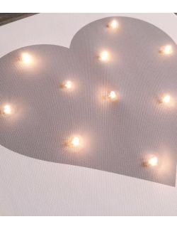 ŚWIECĄCY obraz SERCE lampka dla dziecka dekoracja
