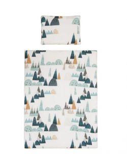 Poszewki na pościel góry musztardowa wypustka 135x100 cm /40x60 cm
