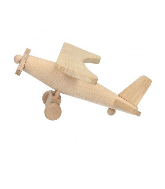 Samolot drewniany - zestaw kreatywny do samodzielnego wykonania