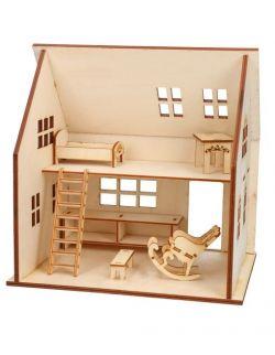 Drewniany domek- Zestaw Eko