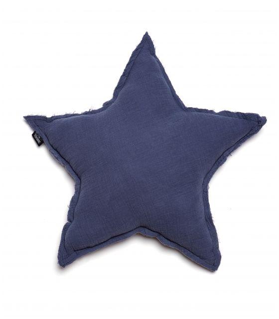 poduszka gwiazda muślinowa stalowa