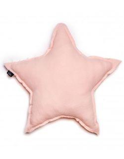 poduszka gwiazda muślinowa pudrowy róż