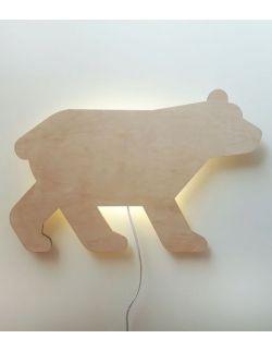 Drewniana lampka nocna - MIŚ/NIEDŹWIEDŹ