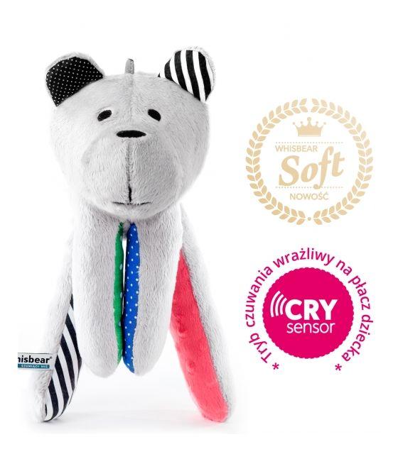 Whisbear® SOFT - Szumiący Miś z funkcją CRYsensor (arbuz)