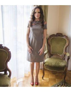 Sukienka Retro z kołnierzem