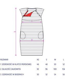 sukienka do karmienia BASIC granatOVA marynarskie paski