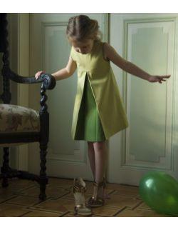 Sukienka z kontrafałdą dziewczynka