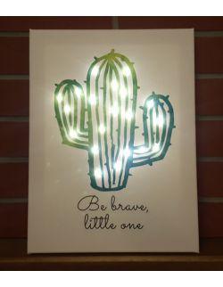 ŚWIECĄCY KAKTUS LED personalizowany - lampa obraz prezent dla dziecka dekoracja dla chłopca