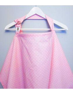 Chusta do karmienia piersią w kropki (różowa)