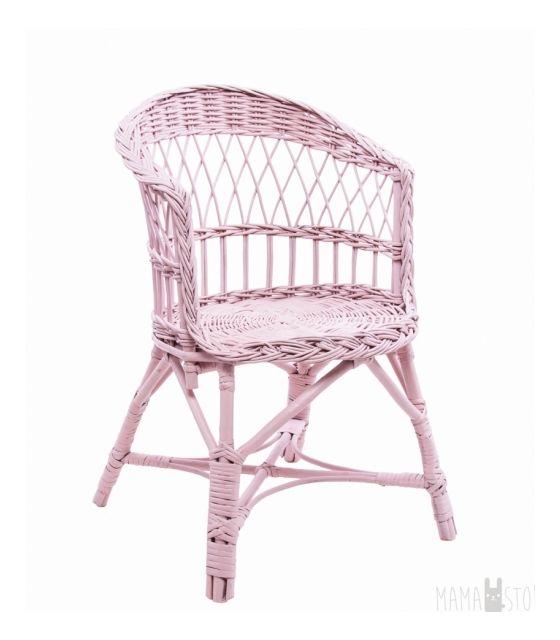 Fotelik mini wiklinowy - różowy