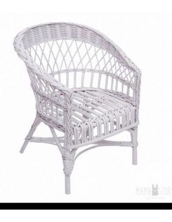 Fotelik mini wiklinowy - biały