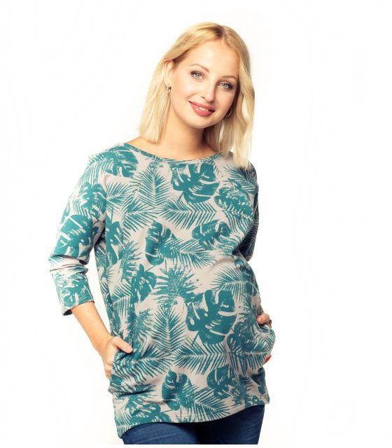 1300ceec Bluza ciążowa i do karmienia Ulla forest - Mamaville - marki kreatywnych mam