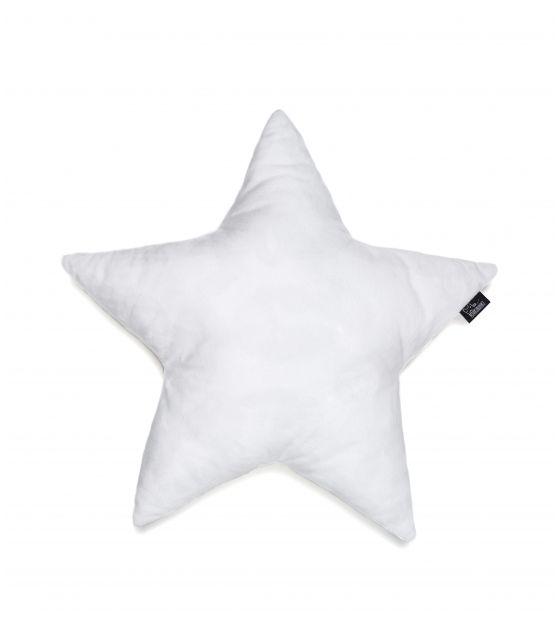 poduszka gwiazda minky biała