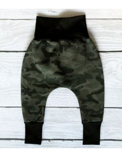 Baggy OCIEPLANE spodnie moro