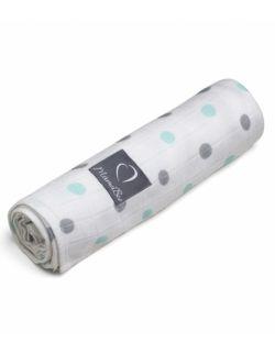 Otulacz Bambusowy Mint&Gray Dots