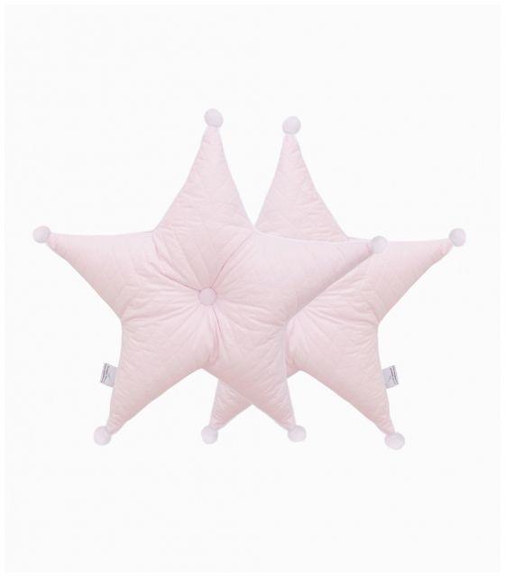 Poduszka gwiazda pudrowy róż