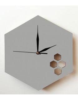 Drewniany zegar - Heksagon