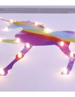ŚWIECĄCY JEDNOROŻEC TĘCZA personalizowany imieniem - lampa obraz prezent dla dziecka dekoracja
