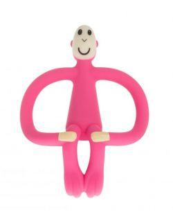 Matchstick Monkey Pink Gryzak 3D ze szczoteczką