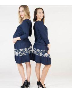 Sukienka do karmienia MamaBelle Blue Blossom