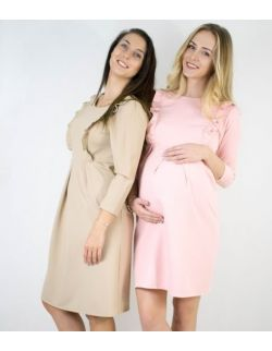 Sukienka do karmienia MamaBelle Nude/Rosy