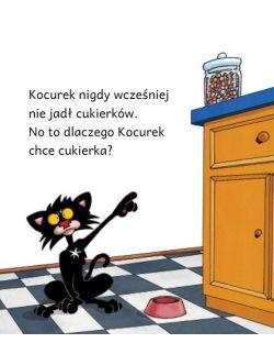 Zły Kocurek nie lubi cukierków
