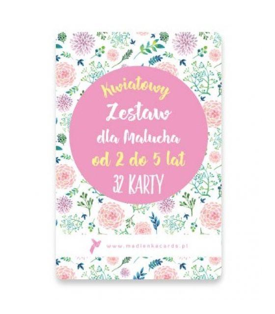 ZESTAW MALUCHA 2-5 LAT KWIATY 32 KARTY