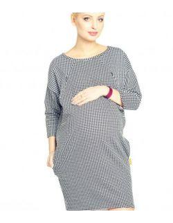 Sukienka ciążowa i do karmienia Clifton pepitka