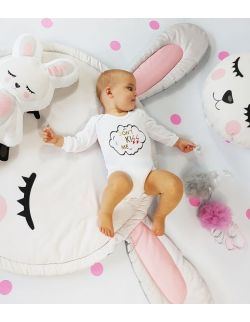 Mata do zabawy królik 100 cm z poduszkami