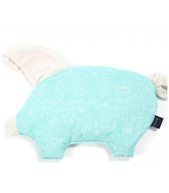 VELVET COLLECTION - PODUSIA SLEEPY PIG - LA MILLOU & MAMAVILLE MINT - RAFAELLO