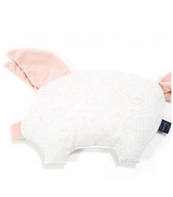 VELVET COLLECTION - PODUSIA SLEEPY PIG - LA MILLOU & MAMAVILLE PEACH BRIGHT - POWDER PINK