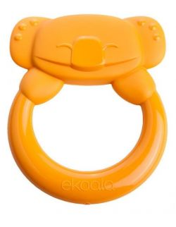 Gryzak Koala z Uchwytem 100% BIOplastik Pomarańczowy