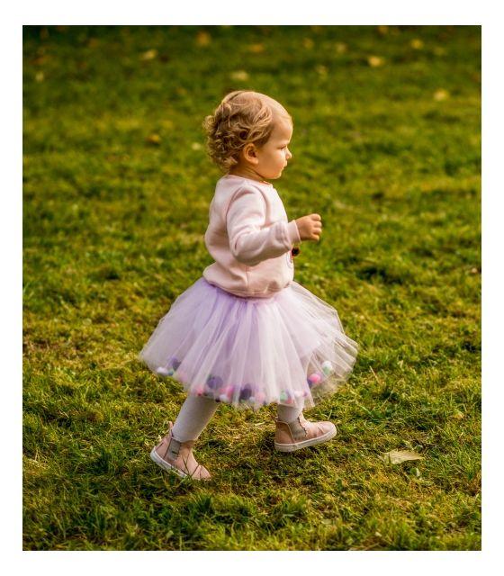 Spódniczka tiulowa z pomponikami Lilac Bow