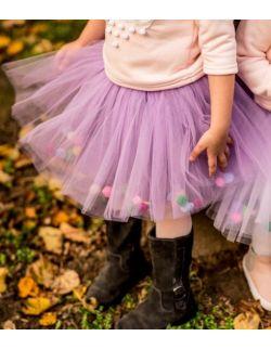 Spódniczka tiulowa z pomponikami Violet Bow