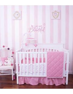 Karuzelka do łóżeczka różowo-biała w gwiazdki