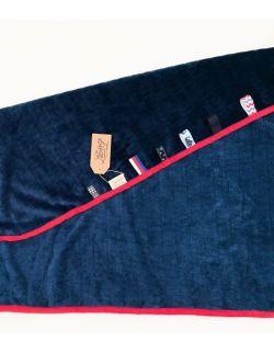Kocyk FloppyLove Navy Blue & Red Tags