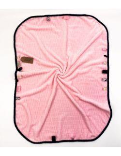 Kocyk FloppyLove Pink & Navy Blue Tags