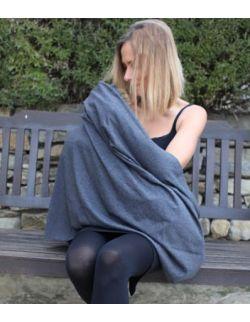 bawełniany szalik do karmienia tunel ecru