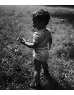 Białe body dla dzieci i niemowląt z długim rękawem - clown