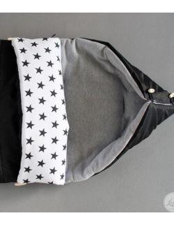 Śpiwór czarny z gwiazdkami