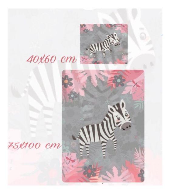 Pościel baby dekor 75 x 100 cm zebra